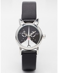 Asos Collection Monochrome Cat Watch