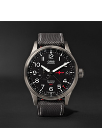 Oris Gmt Rega Limited Edition Automatic 45mm Stainless Steel And Canvas Watch Ref No 01 748 7710 4284