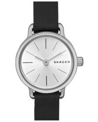 Skagen Hagen Leather Strap Watch 20mm