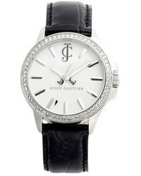 Juicy Couture Jet Setter Round Leather Strap Watch 38mm