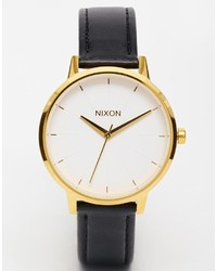 Nixon Kensington Black Leather Watch