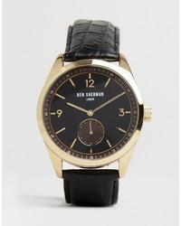 Ben Sherman Leather Watch In Black