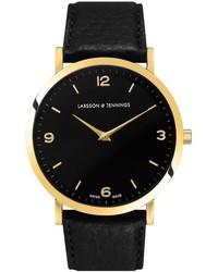 Larsson & Jennings Lugano Leather Strap Watch 38mm