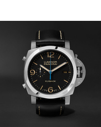 Panerai Luminor 1950 3 Days Chrono Flyback Automatic Acciaio 44mm Stainless Steel And Leather Watch Ref No Pam00524