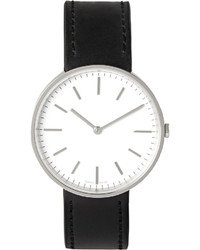 Uniform Wares M37 Psi 01 Black Stainless Steel And Leather Watch