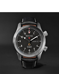 Bremont Mbiior Automatic 45mm Stainless Steel And Leather Watch