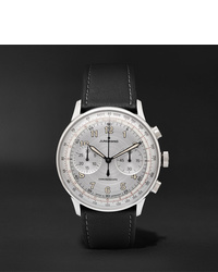 Junghans Meister Telemeter Chronoscope 40mm Stainless Steel And Leather Watch Ref No 027338000