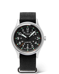 Timex Mk1 Camper Aluminium And Oiled Canvas Watch