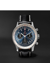 Breitling Navitimer 1 B01 Chronometer 43mm Stainless Steel And Alligator Watch Ref No Ab0121211c1p1