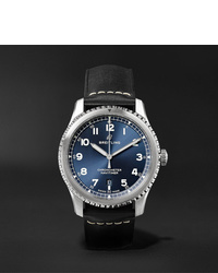 Breitling Navitimer 8 Automatic Chronometer 41mm Steel And Leather Watch Ref No A17314101c1x2