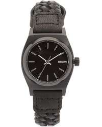 Nixon Small Time Teller Watch With Leather Strap