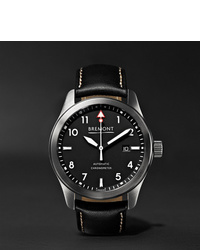 Bremont Solowh Automatic 43mm Stainless Steel And Leather Watch