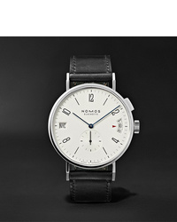 NOMOS Glashütte Tangomat Gmt Automatic 40mm Stainless Steel And Cordovan Leather Watch Ref No 635