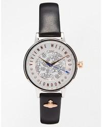 Vivienne Westwood Time Machine Black Charm Set Watch Vv114slbk