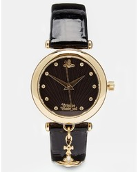 Vivienne Westwood Time Machine Black Charm Watch Vv108bkbk
