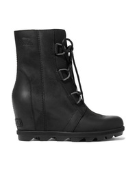 Sorel Joan Of Arctic Wedge Ii Waterproof Leather And Rubber Ankle Boots