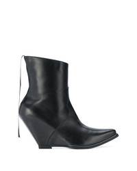 Unravel Project Wedged Pointed Toe Boots