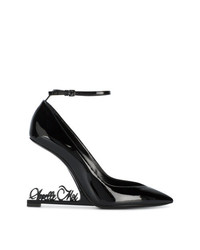 Saint Laurent Black Apelle Moi Opyum 105 Leather Pumps