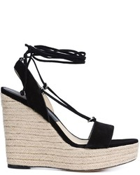 Michael Kors Michl Kors Lace Up Wedge Sandals