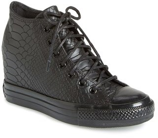 ed7ed894a51 ... Sneakers Converse Chuck Taylor All Star Embossed Reptile Wedge Sneaker  ...