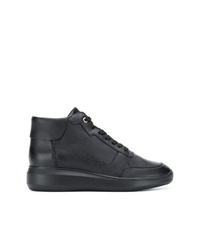 Geox Wedge Lace Up Sneakers