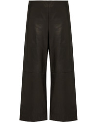 ADAM by Adam Lippes Adam Lippes Cropped Wide Leg Leather Trousers