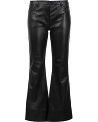Natasha Zinko Flared Leather Trousers