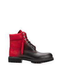 Marcelo Burlon County of Milan Colour Contrast Lace Up Boots