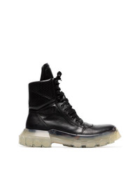 Rick Owens Tractor Dunk Stacked Heel Boots