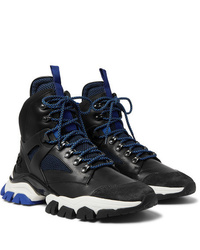 Moncler Tristan Suede Leather Mesh And Neoprene Hiking Boots