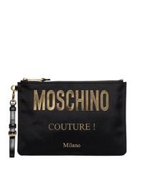 Moschino Logo Plaque Pouch Bag
