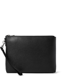 Pebble grain leather pouch medium 395183