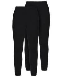 Zalando Essentials 2 Pack Leggings Black