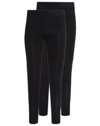 New Look 2 Pack Leggings Black