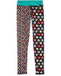 Girls Chooze Splits Mixed Print Leggings