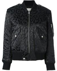 Saint Laurent Leopard Print Bomber Jacket
