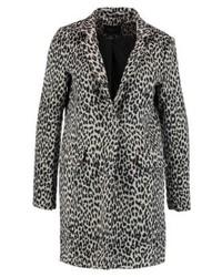 Cortefiel Tailored Coat Print Classic Coat Black