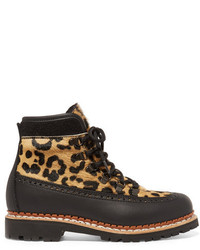 Tabitha Simmons Bexley Leopard Print Calf Hair And Leather Ankle Boots Leopard Print