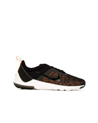 Black Leopard Low Top Sneakers