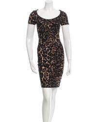 Blumarine Metallic Print Dress