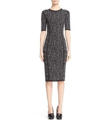Michael Kors Michl Kors Leopard Print Midi Sheath Dress