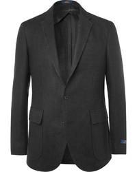 Polo Ralph Lauren Black Morgan Textured Linen Blazer