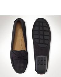 Ralph Lauren Camilla Nubuck Leather Loafer