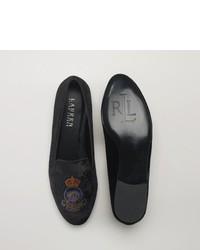 Ralph Lauren Nala Crested Velvet Loafer