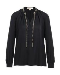 Michael Kors Chain Blouse Black