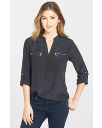 MICHAEL Michael Kors Michl Michl Kors Zip Pocket Blouse