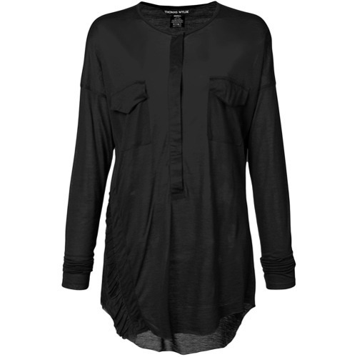 Thomas Wylde Sheer Long Sleeve Blouse