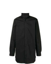 Rick Owens Long High Standing Collar Shirt