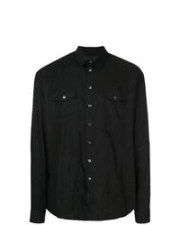 RH45 Skull Long Sleeve Fitted Shirt