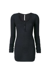 Isabel Benenato Buttoned Neck Long Top
